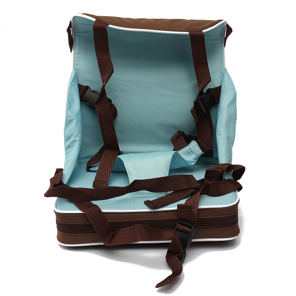 Baby Portable Booster Seat Travel Foldable Harness Safe Chair