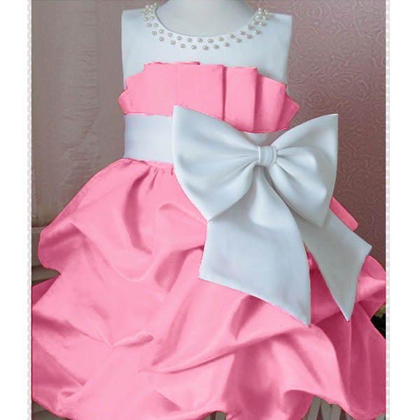 Baby Girls Summer Bowknot Sleeveless Princess Dresses