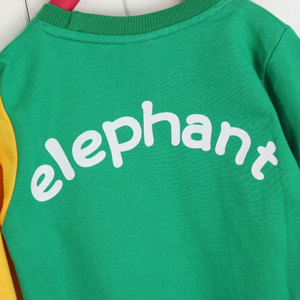 Children Kids Animal Elephant T-shirt Autumn Spring Long Sleeve Tops