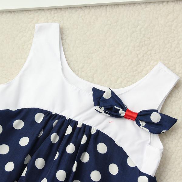 Baby Girls Polka Dot Sleeveless Princess Dress
