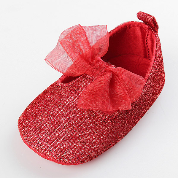 Baby Toddler Princess Shoes Ribbon Bowknot Soft Sole Prewalker