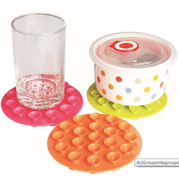 Baby Bowl Coasters Children Sided Suction Cup  Anti-skid Pad