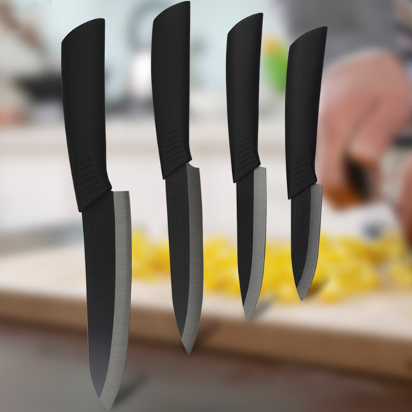 Black Blade Ceramic Knife Set Chef's Kitchen Knives 4 Size