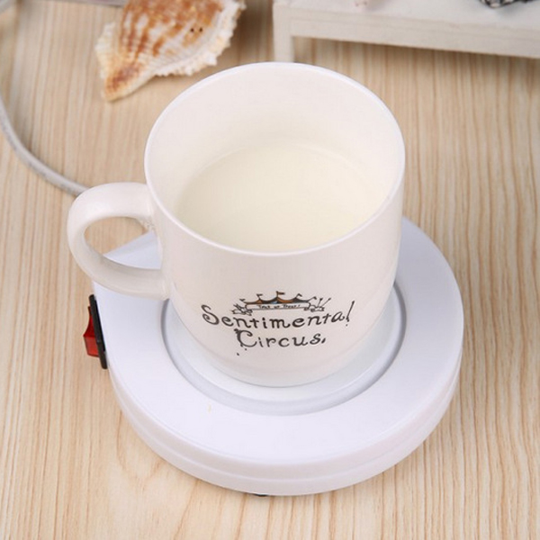 Electronic Heating Coaster Coffee Tea Milk Mug Warmer