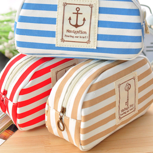 Three Colors Navy Canvas Pencil Case Cellphone Coin Storage Purse от Banggood INT