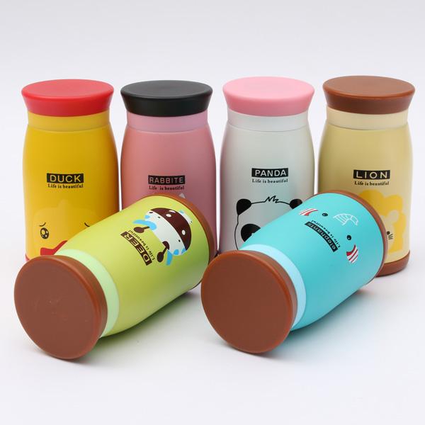 260mL Cartoon Animal Vacuum Flasks Stainless Steel Travel Mug Tea Water Bottle Cup