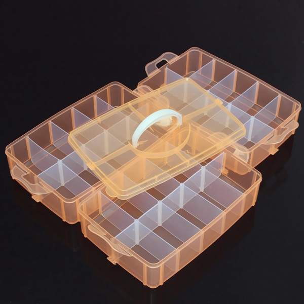 30 Grids Medium Size Transparent Cosmetic Nail Tips Container Storage Box