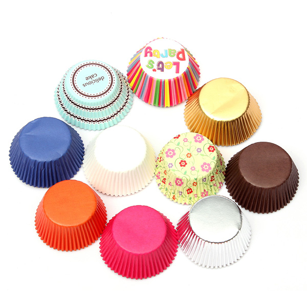 50Pcs Paper Cake Cup Liners Baking Muffin Kitchen Craft Party DIY