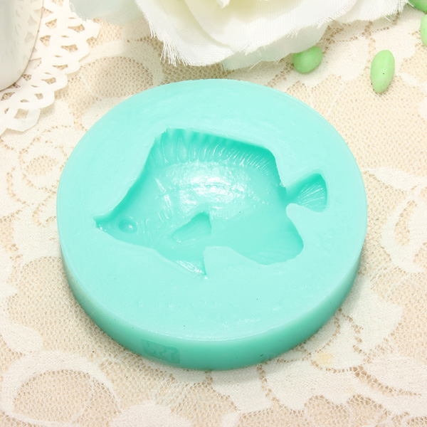 Silicone fish shape cake mold fondant soap mould us for Silicone fish molds
