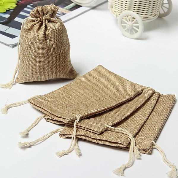 Wedding Gift Bags Burlap : Faux Burlap Hessian Mini Bags Rustic Wedding Favor Gift Bag at ...