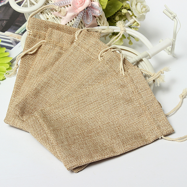 Burlap Wedding Favor Bags Wholesale : Faux Burlap Hessian Mini Bags Rustic Wedding Favor Gift Bag at ...