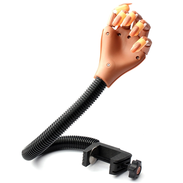Professional Adjustable Nail Salon Trainer Flexible Practice Hand