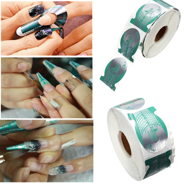 500pcs Professional Nail Art Tips Extension Forms Guide Stickers от Banggood INT