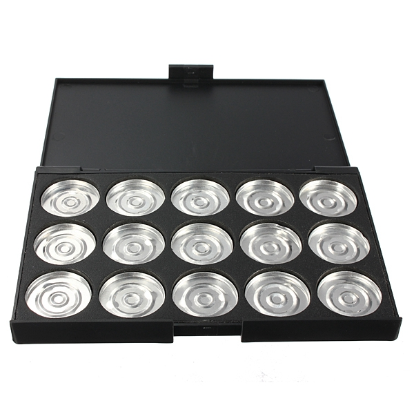 15 Grids 26mm Empty Magnetic Makeup Eyeshadow Concealer Pigment Aluminum Palette Pan
