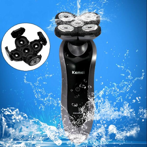 230V KM7888 Electric Fully Waterproof Rotary Razor Shaver