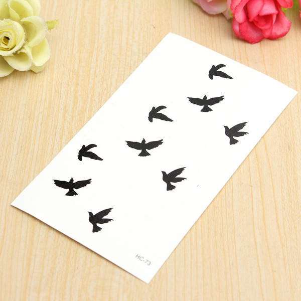 Bird Pattern Design Temporary Water Transfer Tattoo Sticker