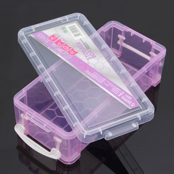 Plastic Cosmetic Nail Art Pill Storage Organizer Container Case Box