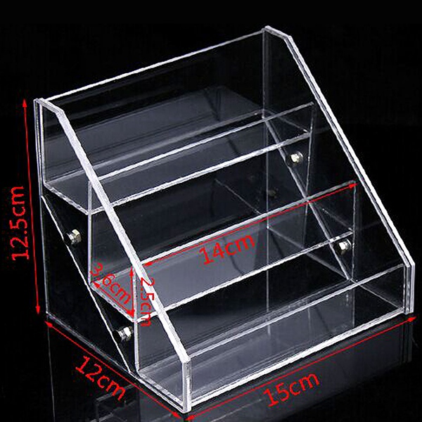 3 Tiers Acrylic Clear Cosmetic Nail Polish Varnish Display Stand Rack