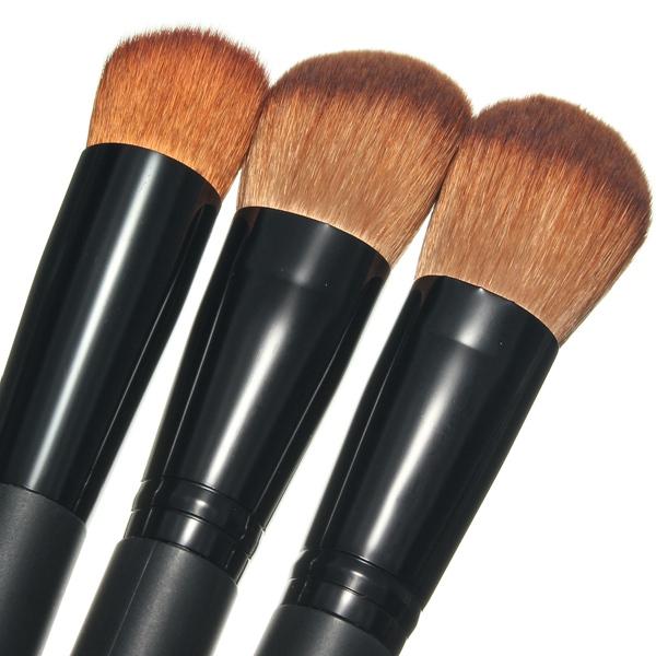 3 pcs Multi-Function Blush Makeup Powder Foundation Brush Set