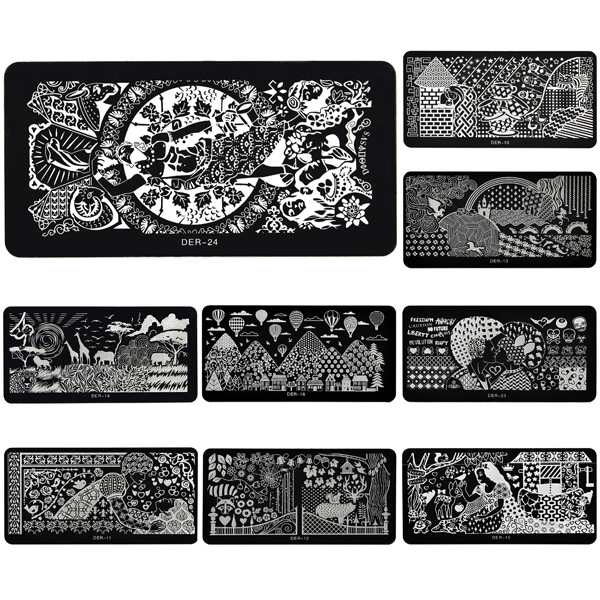 Stainless Nail Art Image Stamp Stamping Plates Manicure Template