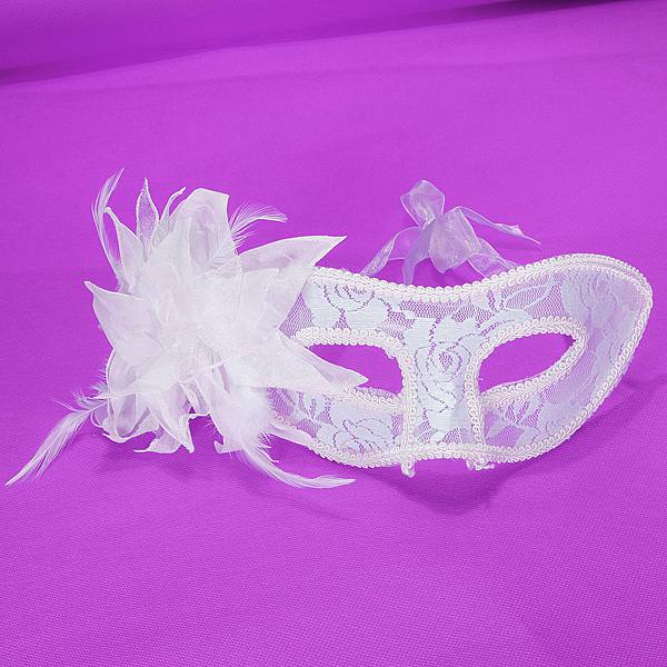 Venetian Feathered Flower Eye Mask