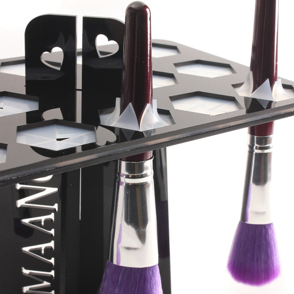 Black Collapsible 14 Big Makeup Brush Drying Rack Holder Stand