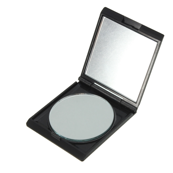 black portable collapsible double sided magnifying makeup