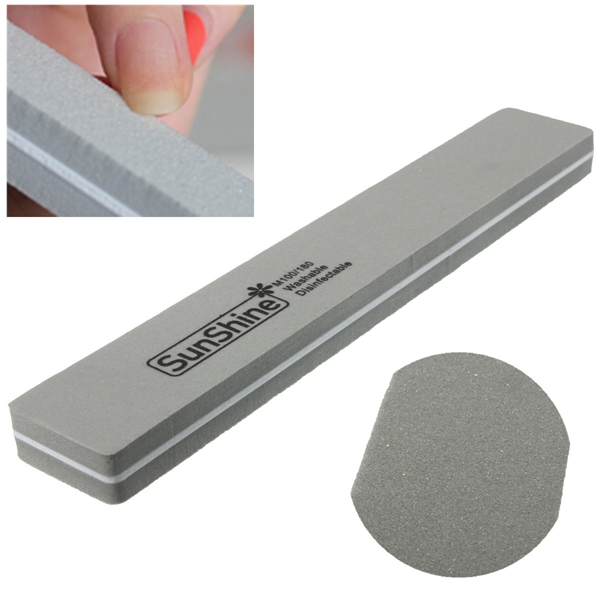 Double Sided Manicure Sponge Nail Buffer Block File Shiner