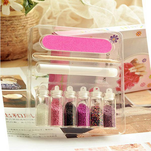 3D Caviar Finger Design Decoration Nail Art Set