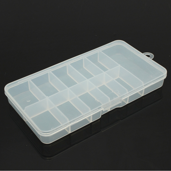 Gems Rhinestone Transparent Nail Art Tips Storage Box Container
