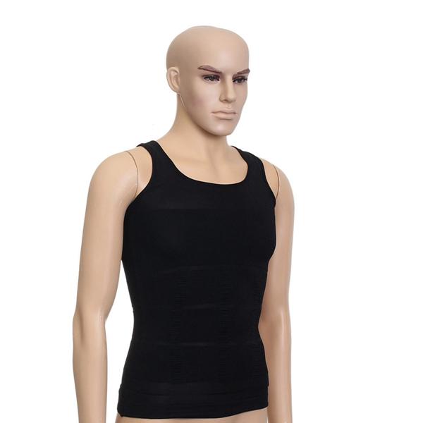 Men's Sexy Vest Body Slimming Fatty Tummy Shaper Underwear Corset