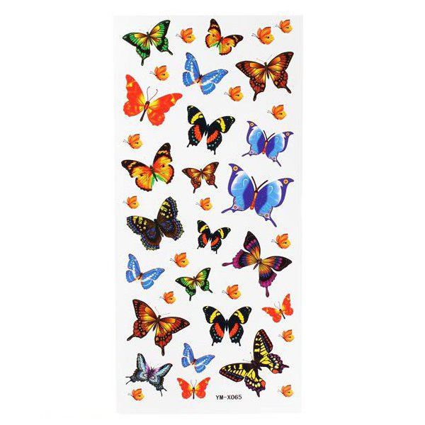Butterfly Totem Insect Waterproof Temporary Tattoo Sticker Paper - EachineTemporary Tattoos<br>Features: Butterfly Totem Tattoo Sticker. Safe and healthy, there is no harm for skin. Easy to apply and show your charming. Description: Item Type: Butterfly Totem Tattoo Sticker Style: As same as photos Size: 18.5*8.6cm Weight: About 10g Package Included: 1 X Butterfly Totem Tattoo Sticker How to use: 1. Cut out Transfer Tattoo Sticker and remove the clear sheet 2. Place tattoo face down on skin 3. Wet the Transfer Tattoo Sticker thoroughly with a sponge 4. After 20-30 seconds,gently remove the backing paper 5. Allow the Transfer Tattoo Sticker to air dry Clean the area before you apply tattoo on it when the water dries out. It is helpful for increasing the quality for persistence. Notice: Does not touch the water within two hours after pasting Tattoo Sticker. Avoiding to rub the Tattoo Sticker. High temperatures can affect the viscosity of stickers.<br>