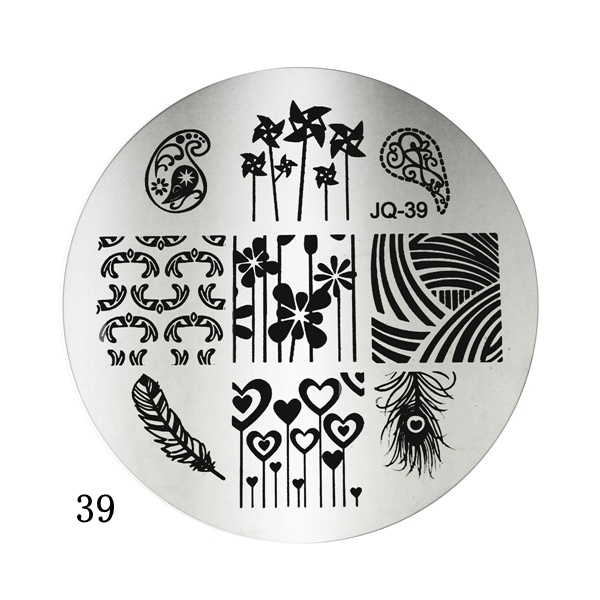 Nail Art Polish Stamping Template Image Stamp Plates DIY
