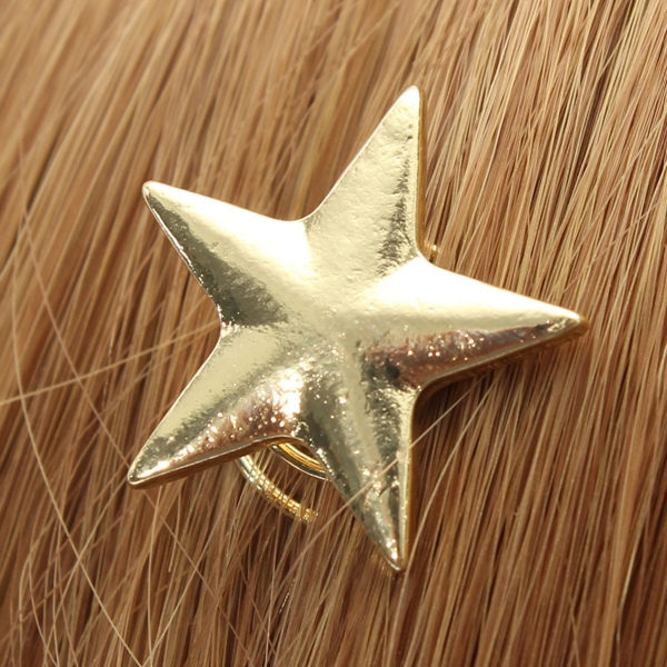 Alloy Gold Star Swirl Spring Hair Pin Hair Pin Clip Decoration