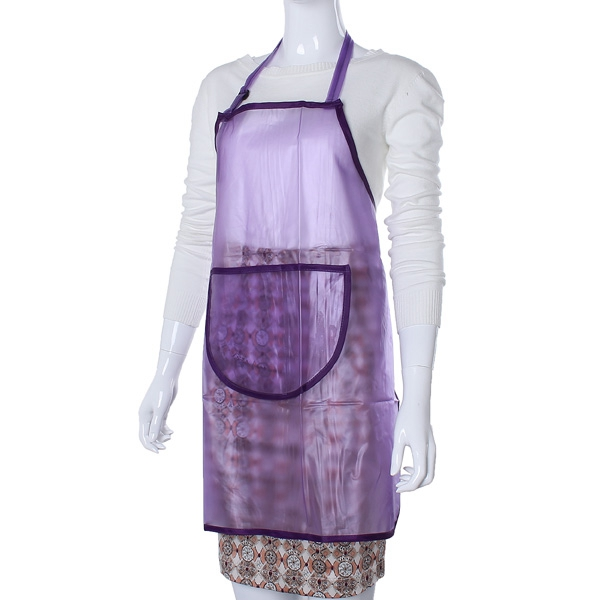 Transparent Waterproof Hair Salon Manicures Cooking Apron