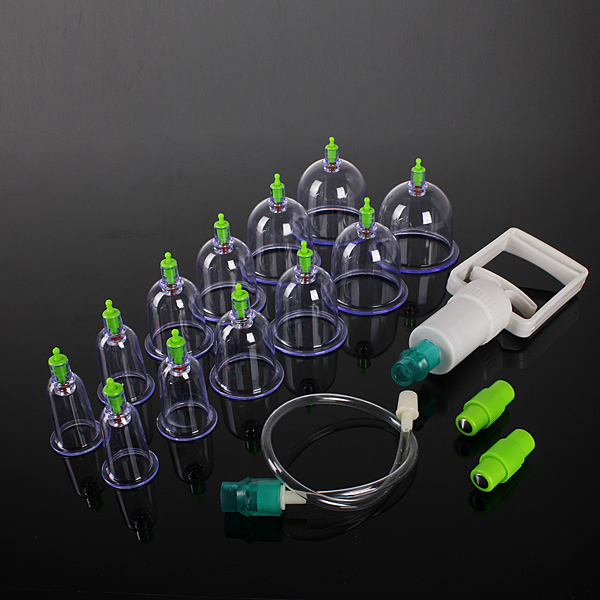 12 Body Cupping Healthy Kit +6 Therapy Massager Magnets Set