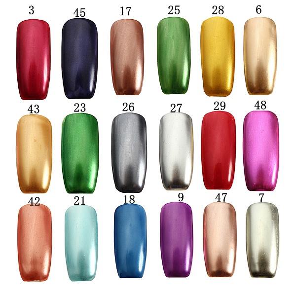 18 Colors 15ml Soak Off Metallic Metal Nail UV Gel Polish