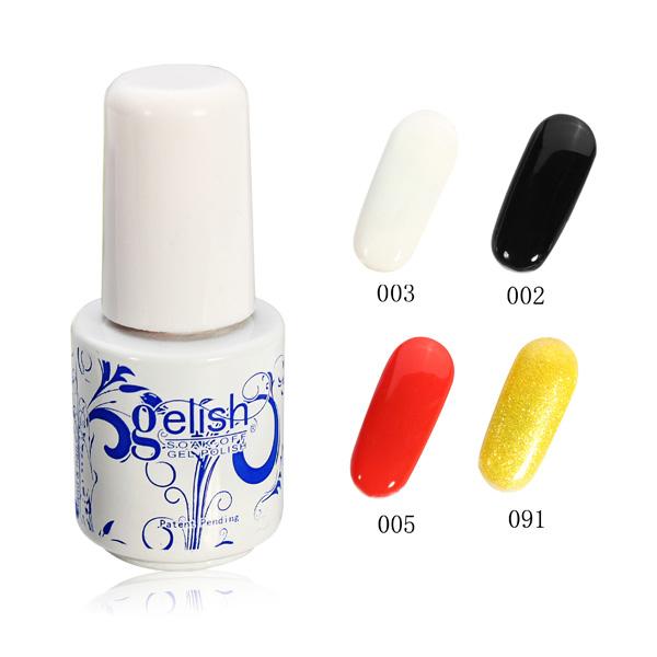 24 Colors 6ML Blue And White Porcelain Soak Off UV Gel Nail Art Polish