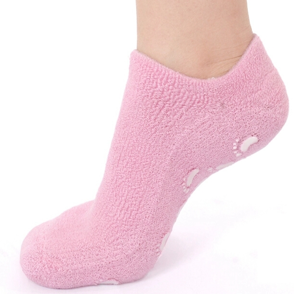 1 Pair Pink SPA Gel Moisturizing Foot Socks Skin Whitening