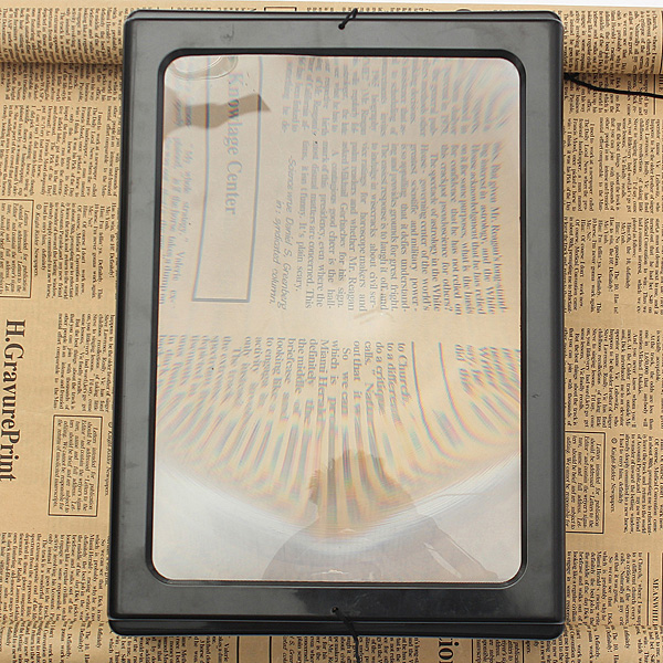 Foldable Full Page Large Magnifier 3X With LED Light For Reading