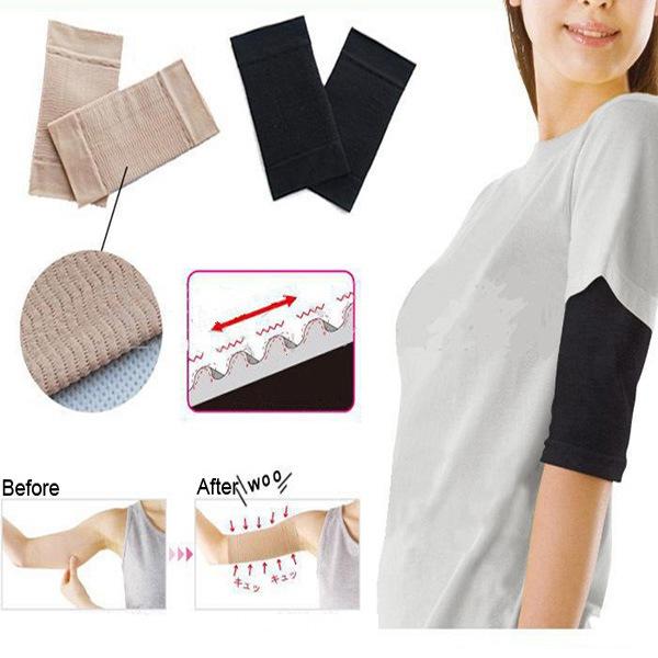 2 Pcs Ultra-Thin Arm Slimming Shapewear Fat Burning Massage Sleeves