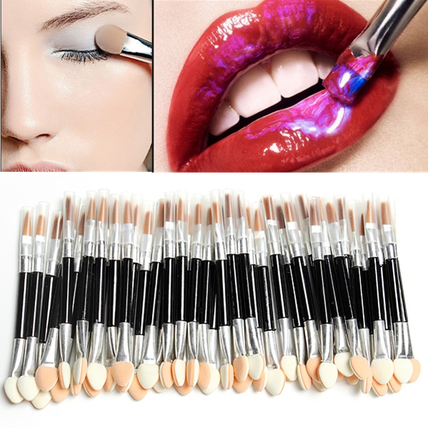 50Pcs Disposable Sponge Eye Shadow Lip Brushes Applicator SetEye Makeup Tool<br>Features: This applicator set is ideal for professional makeup It is an essential part for makeup Convenient for carrying and storing Description: Item Type: Eye Shadow Lip Brushes Set Length: About 7.5cm Color: As same as pictures Quantity: 50pcs double ends eye shadow brushes Weight: About 53g Package Included: 1 X Eye Shadow Lip Brushes Set<br>