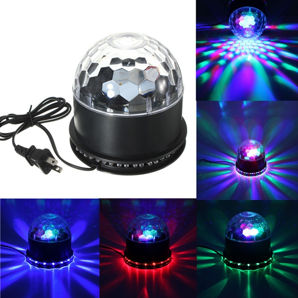 Buy 48 LED RGB Voice-activated Crystal Magic Ball Effect Stage Lighting KTV Club Disco Party