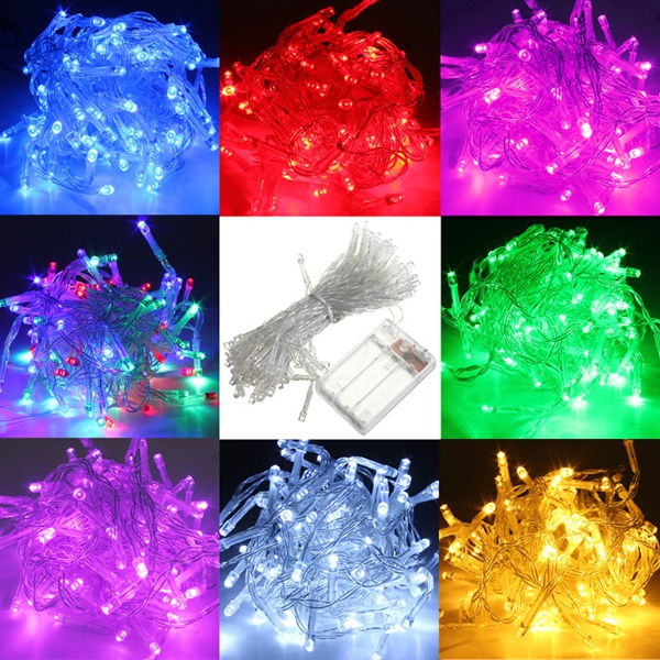 10M Battery Powered 100 LED Starry Fairy String Light Lamp Wedding Xmas Party Lamp (Eachine1) Tallahassee для всех