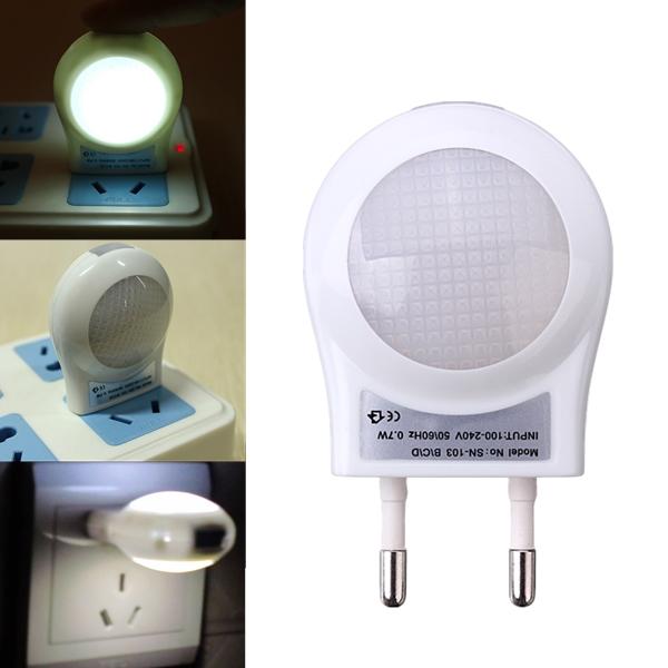LED Lighting Sensor Light Energy Saving Night Lamp EU Plug 220V
