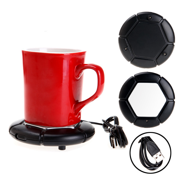 USB Portable Powered Cup Mug Coffee Tea Drink Heater Warmer Pad