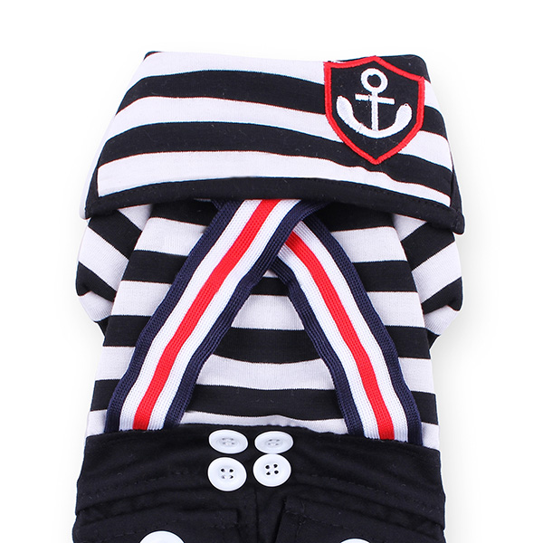 Pet Sailor Stripe Jumpsuit
