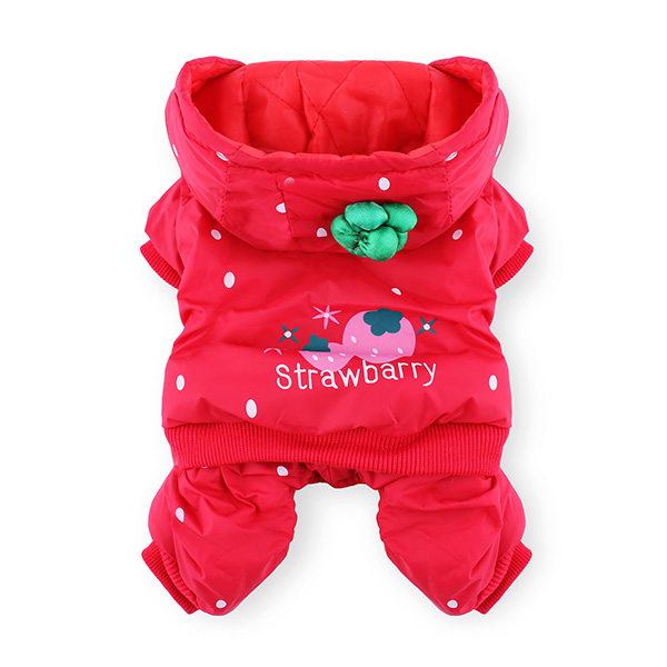 Pet Dog Strawberry Jumpsuit