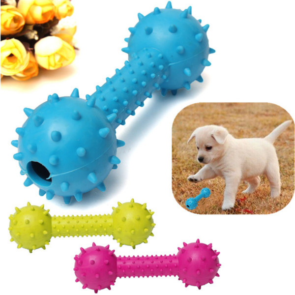 Pet Barbell Chew Toy
