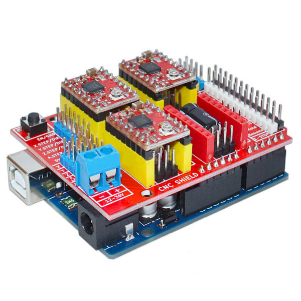 CNC Shield V3 3D Printer Expansion Board+A4988 Driver+UNO R3 cnc spindle motor speed control 0 75kw 220v vfd drive cnc control 1000hz frequency inverter input 1ph or 3ph vfd inverter
